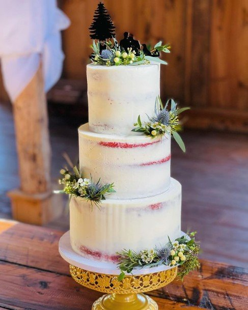 Flowers Rustic Wedding Cake Toppers