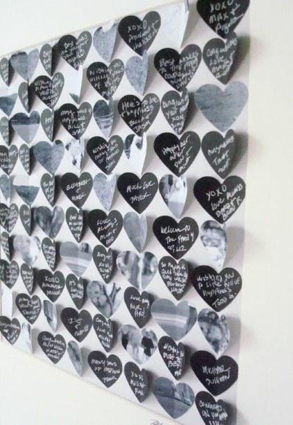 Folding Heart Unique Wedding Guest Book Ideas