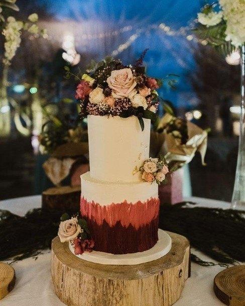 Forest Buttercream Wedding Cake