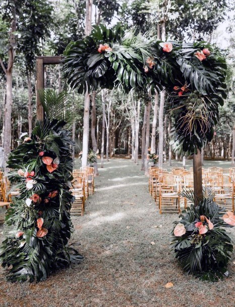 Forest Decor Wedding Tropical Flowers