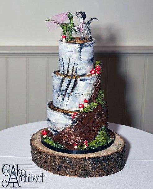 Forest Theme Unique Wedding Cake