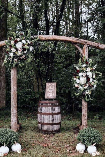 Forrest Ceremony Backdrop Rustic Wedding Ideas
