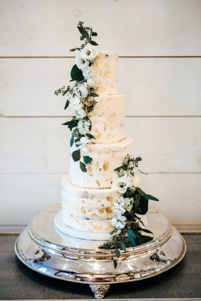Four Tiered Cake November Wedding Flowers