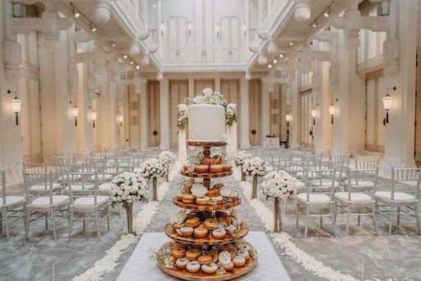 Four Tiered Donut Wedding Cake