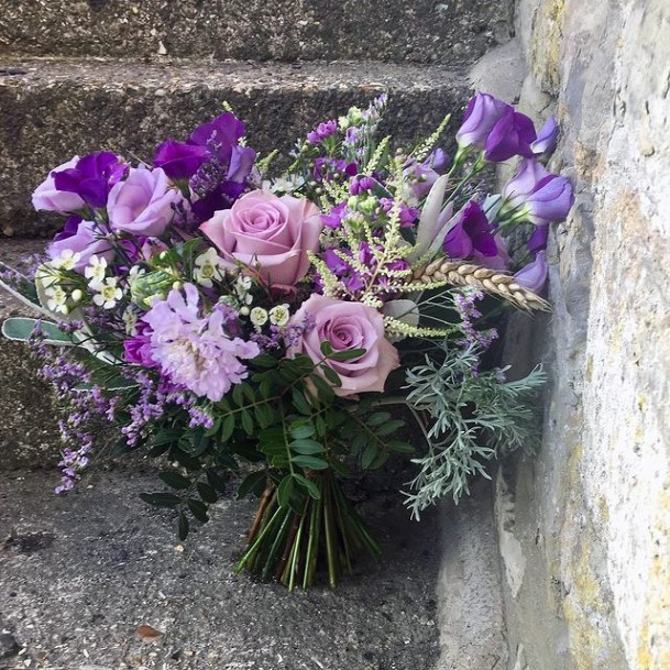 Fragrant Lavender Flowers Wedding Bouquet