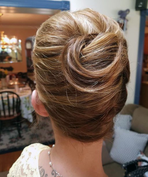 French Twist With Sexy Loose Top Curl For Women