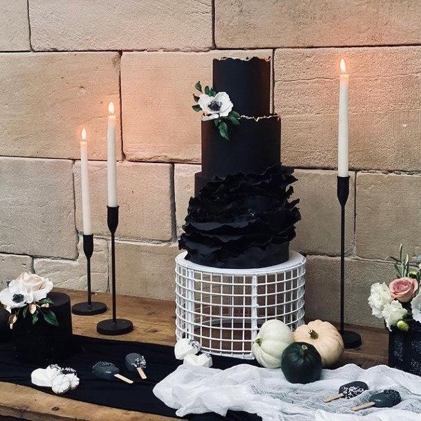 Frightening Black Halloween Wedding Cakes