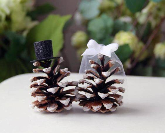 Frosted Pine Cone Cake Toppers Inspiration Rustic Wedding Ideas