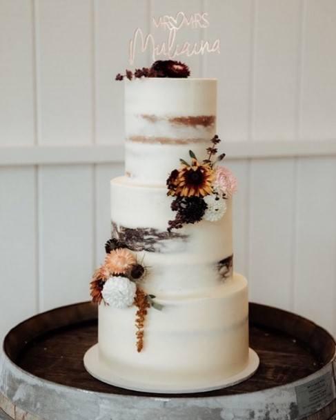 Frosty White Buttercream Wedding Cake