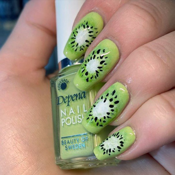 Fruit Bonanza Kiwi Nails Women