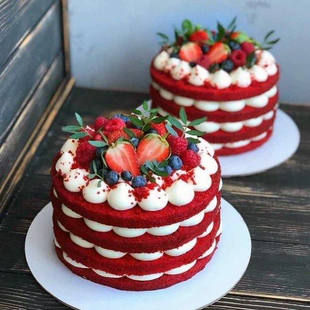 Fruitilicious Red Velvet Wedding Cake