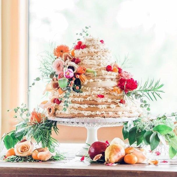 Fruits Decor Unique Wedding Cake