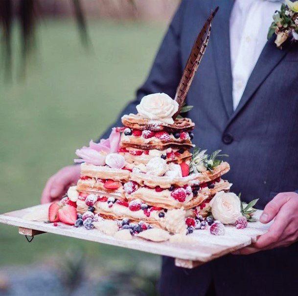 Fruits Unique Wedding Cake