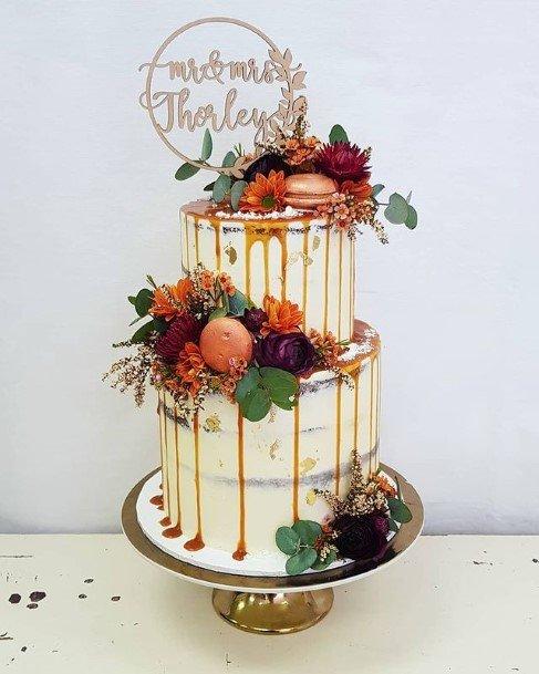 Fruity 2 Tier Wedding Cake