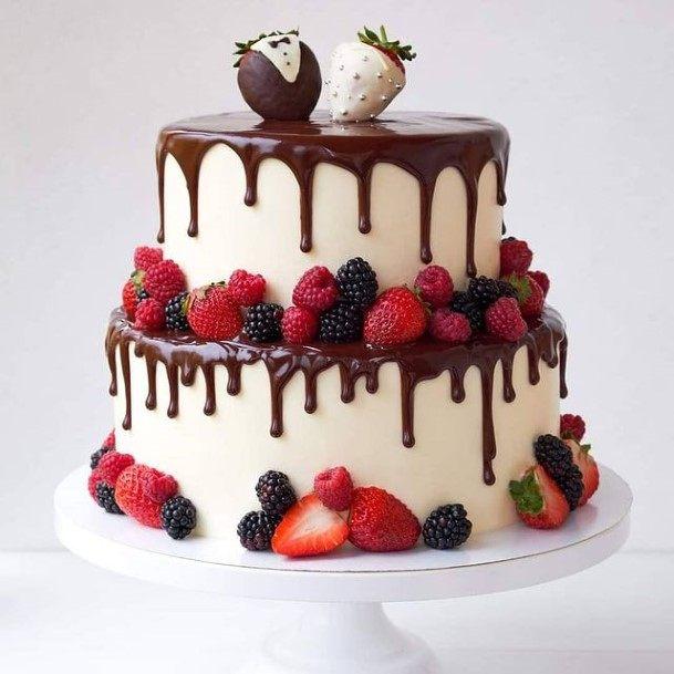 Fruity Chocolate Wedding Cake