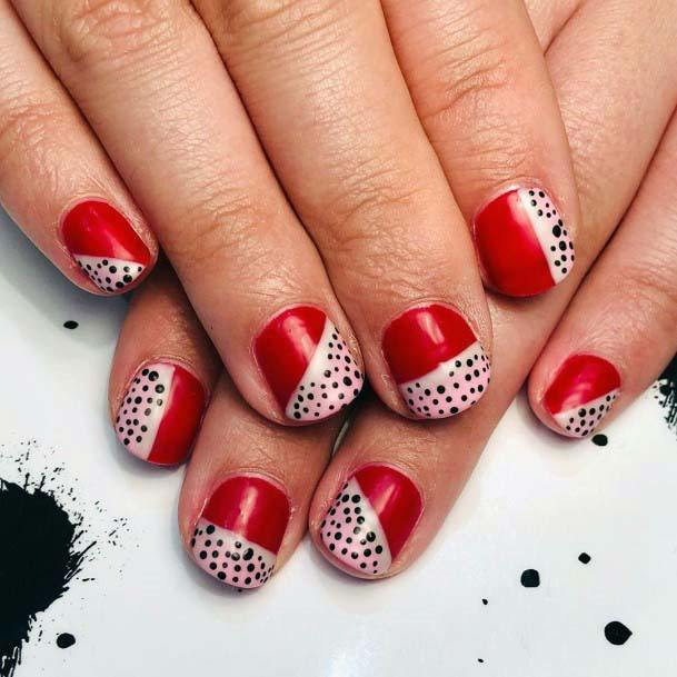 Fruity Seeds Red And Pink Nails For Women