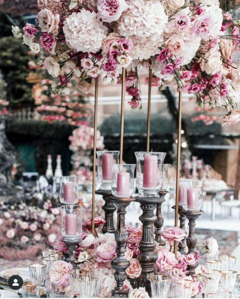 Full Sized Pink Flowers Wedding