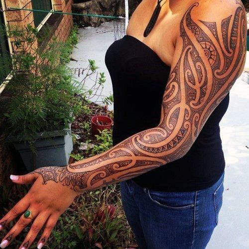 Full Sleeves Tribal Tattoo