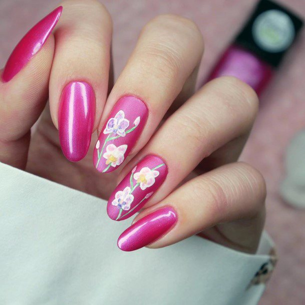 Fuschia Pink Orchid Nail Paint