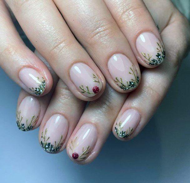 Garden Tipped Romantic Nails Women