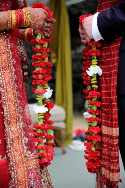 Garland Flowers Indian Wedding