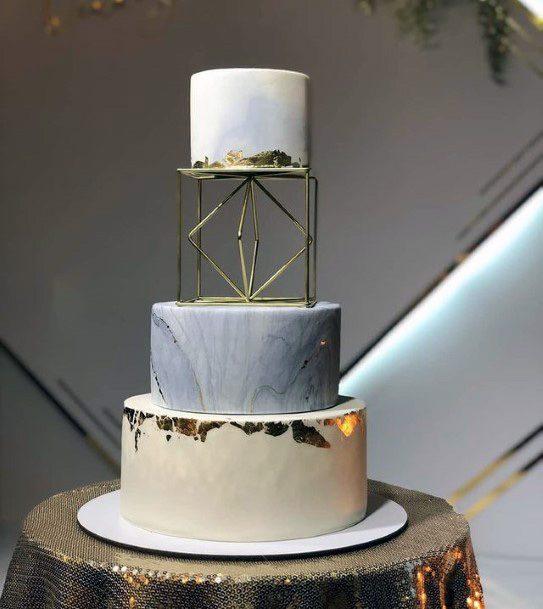 Geometric Art 3 Tier Wedding Cake Women