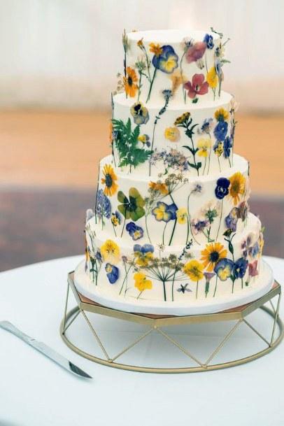 Geometric Art Womens Wedding Cake Stand