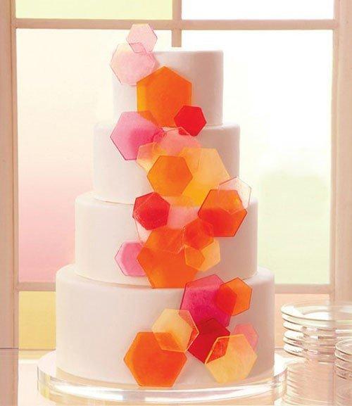 Geometric Wedding Cake Ideas