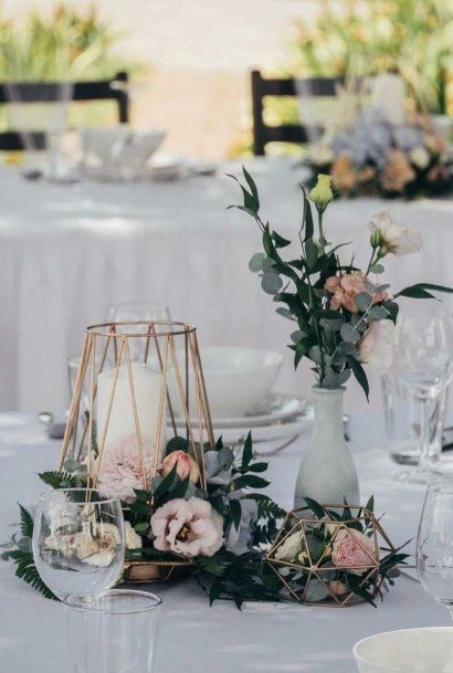 Geometric Wedding Centerpiece Ideas