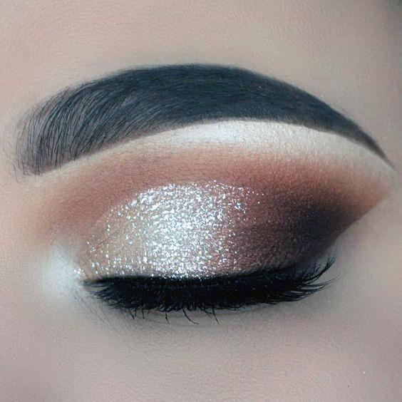 Girls Brown And Gold Eyeshadow
