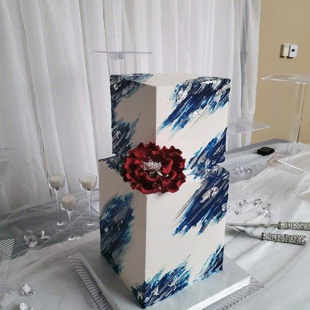 Glamourous Square Wedding Cake