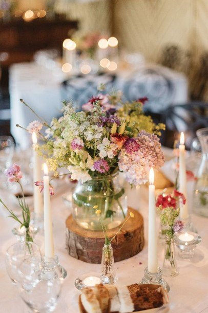 Glass Jar Wedding Centerpiece Ideas