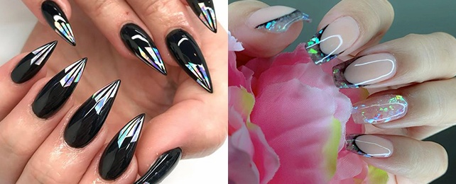 Top 50 Best Glass Nails For Women – Shiny Dimensional Design Ideas