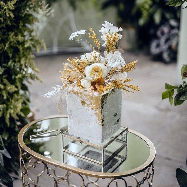 Glassy Square Wedding Cake