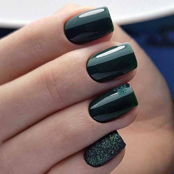 Gleaming Black Nail Color