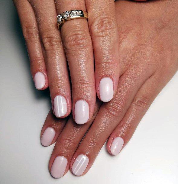 Gliding White Shellac Nails For Women