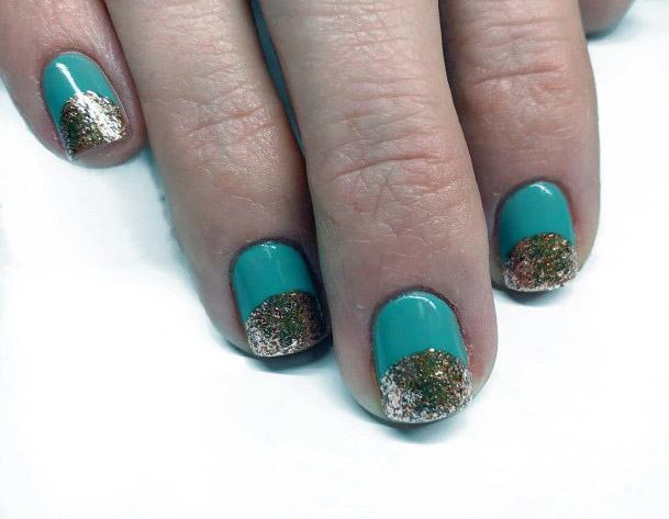 Glitter Tipped Nails For Women