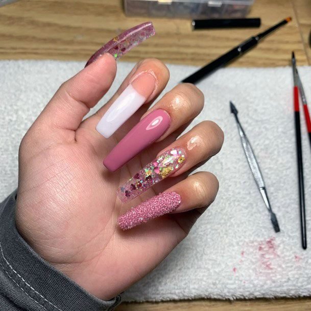 Glittering Sugar Nails Women