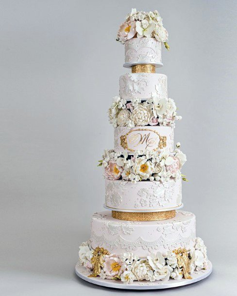 Glorious Golden Wedding Cake