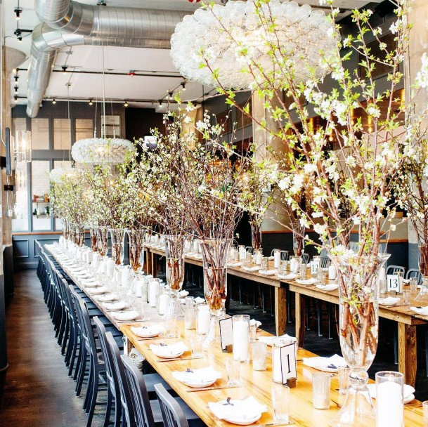 Glorious May Wedding Flowers Table Decor