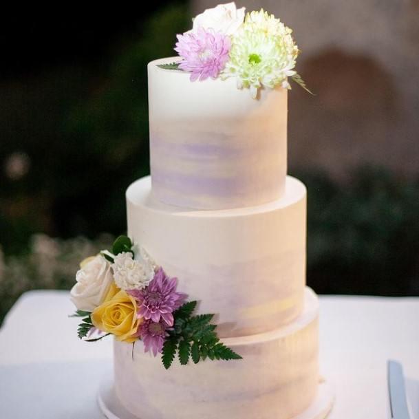 Glorious Purple Wedding Cake