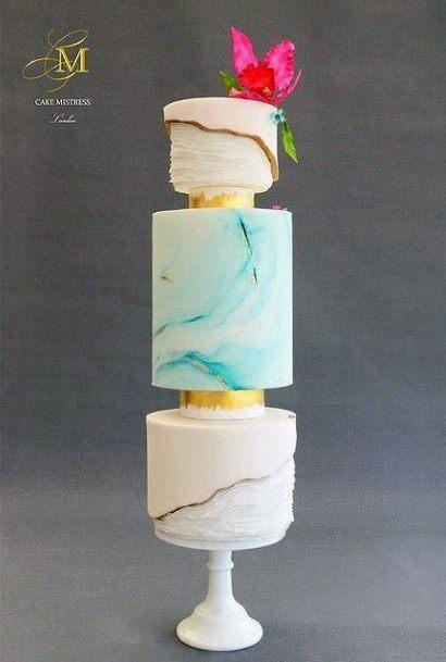 Glossy Beach Wedding Cake Women