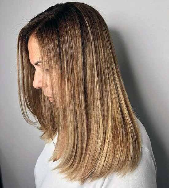 Glossy Caramel Blonde Hairstyle Women