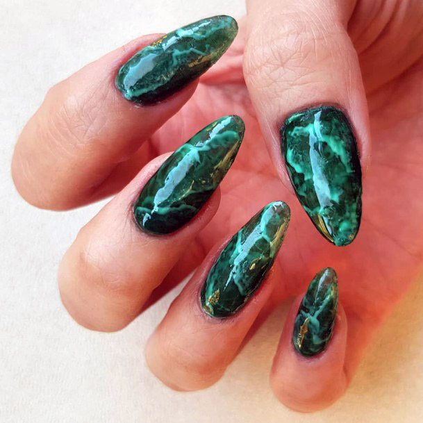 Glossy Lightening Nails Women