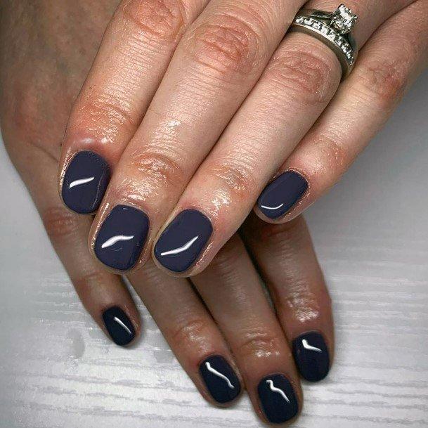 Glossy Nail Design Idea Women