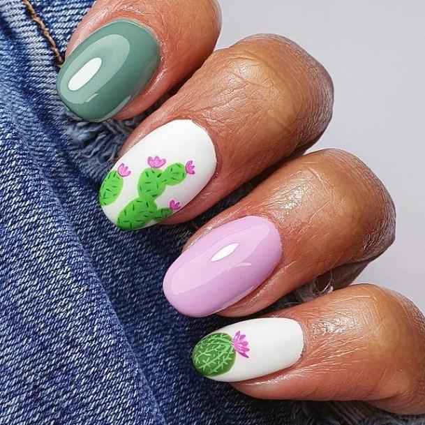 Glossy Nails Cactus Women