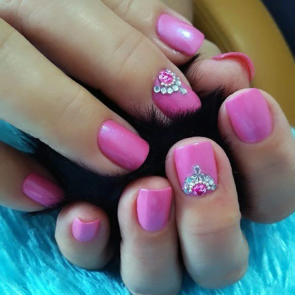 Glowing Stone Charming Pink On Nails For Women