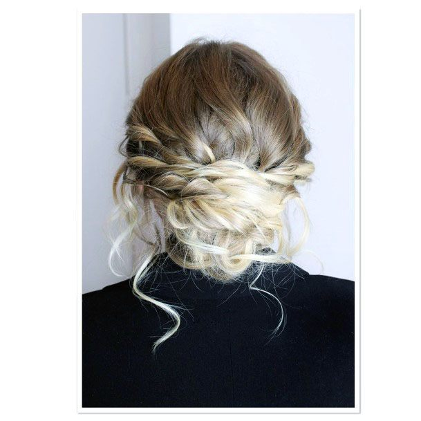 Gnarly Braided Chignon Hairstyle Women