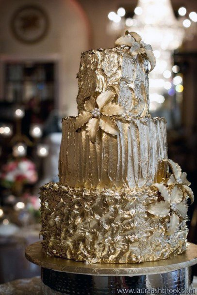Golden Art Wedding Cake
