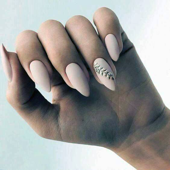 Golden Stalk Accent Natural Ideas Nail For Women